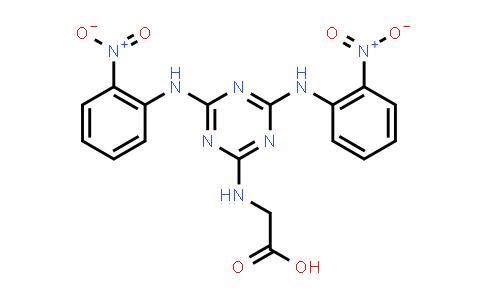 2-((4,6-Bis((2-nitrophenyl)amino)-1,3,5-triazin-2-yl)amino)acetic acid