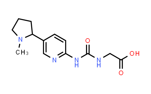 2-(3-(5-(1-Methylpyrrolidin-2-yl)pyridin-2-yl)ureido)acetic acid