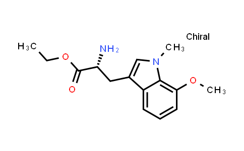 (R)-Ethyl 2-amino-3-(7-methoxy-1-methyl-1H-indol-3-yl)propanoate