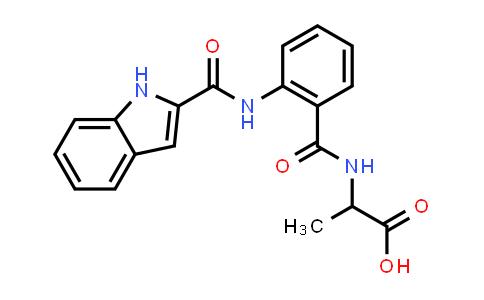2-(2-(1H-Indole-2-carboxamido)benzamido)propanoic acid