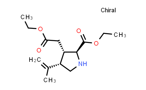 (2S,3S,4S)-Ethyl 3-(2-ethoxy-2-oxoethyl)-4-(prop-1-en-2-yl)pyrrolidine-2-carboxylate