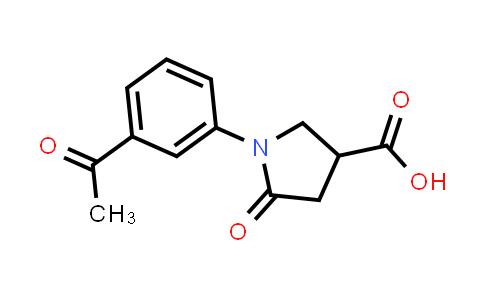 1-(3-Acetylphenyl)-5-oxopyrrolidine-3-carboxylic acid