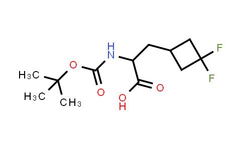 2-((tert-Butoxycarbonyl)amino)-3-(3,3-difluorocyclobutyl)propanoic acid