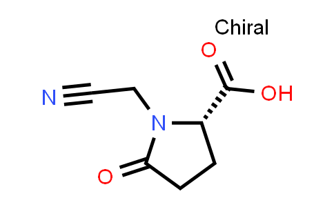 (S)-1-(Cyanomethyl)-5-oxopyrrolidine-2-carboxylic acid