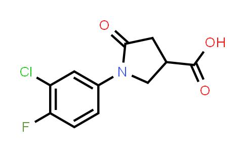 1-(3-Chloro-4-fluorophenyl)-5-oxopyrrolidine-3-carboxylic acid