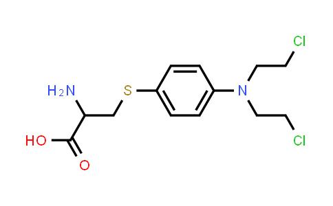 2-Amino-3-((4-(bis(2-chloroethyl)amino)phenyl)thio)propanoic acid