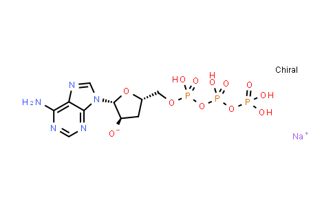 Sodium (2R,3R,5S)-2-(6-amino-9H-purin-9-yl)-5-(((hydroxy((hydroxy(phosphonooxy)phosphoryl)oxy)phosphoryl)oxy)methyl)tetrahydrofuran-3-olate