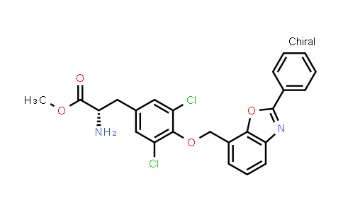 (S)-Methyl 2-amino-3-(3,5-dichloro-4-((2-phenylbenzo[d]oxazol-7-yl)methoxy)phenyl)propanoate