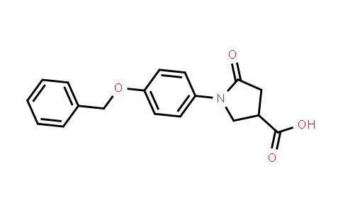 1-(4-(Benzyloxy)phenyl)-5-oxopyrrolidine-3-carboxylic acid