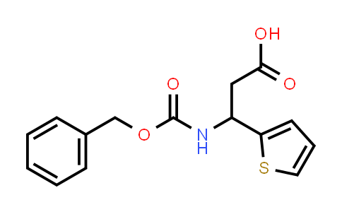 3-(((Benzyloxy)carbonyl)amino)-3-(thiophen-2-yl)propanoic acid