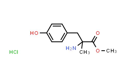 Methyl 2-amino-3-(4-hydroxyphenyl)-2-methylpropanoate hydrochloride