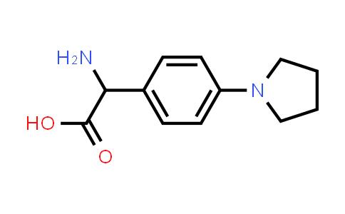 2-Amino-2-(4-(pyrrolidin-1-yl)phenyl)acetic acid