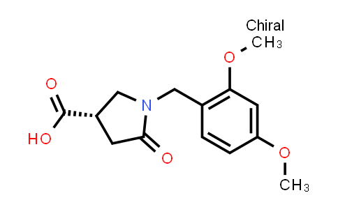 (S)-1-(2,4-Dimethoxybenzyl)-5-oxopyrrolidine-3-carboxylic acid