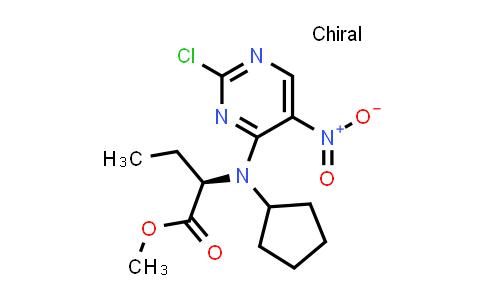 (R)-Methyl 2-((2-chloro-5-nitropyrimidin-4-yl)(cyclopentyl)amino)butanoate