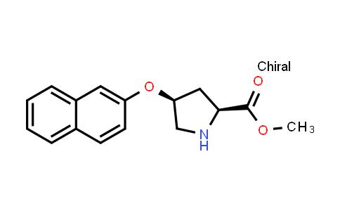 (2S,4S)-Methyl 4-(naphthalen-2-yloxy)pyrrolidine-2-carboxylate