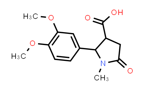 2-(3,4-Dimethoxyphenyl)-1-methyl-5-oxopyrrolidine-3-carboxylic acid