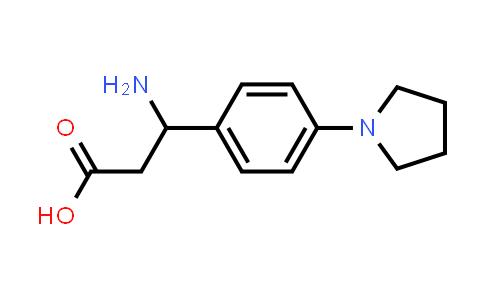 3-Amino-3-(4-(pyrrolidin-1-yl)phenyl)propanoic acid