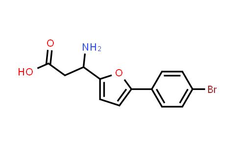 3-Amino-3-(5-(4-bromophenyl)furan-2-yl)propanoic acid