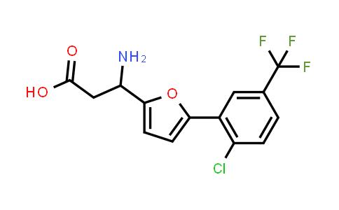 3-Amino-3-(5-(2-chloro-5-(trifluoromethyl)phenyl)furan-2-yl)propanoic acid