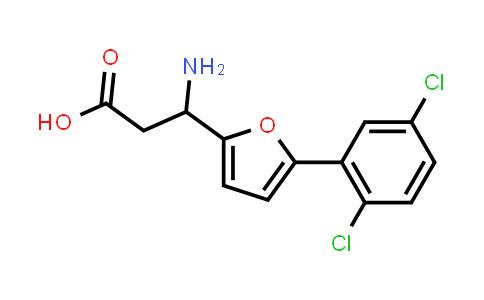 3-Amino-3-(5-(2,5-dichlorophenyl)furan-2-yl)propanoic acid