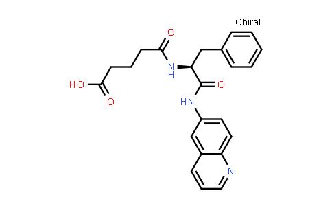 (S)-5-Oxo-5-((1-oxo-3-phenyl-1-(quinolin-6-ylamino)propan-2-yl)amino)pentanoic acid
