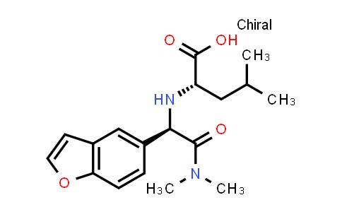 (S)-2-(((R)-1-(Benzofuran-5-yl)-2-(dimethylamino)-2-oxoethyl)amino)-4-methylpentanoic acid