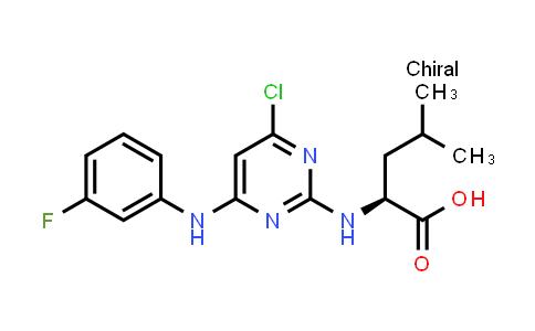 (S)-2-((4-Chloro-6-((3-fluorophenyl)amino)pyrimidin-2-yl)amino)-4-methylpentanoic acid