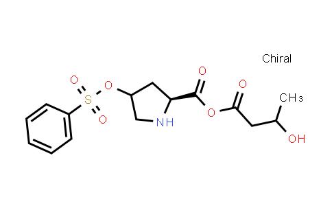 3-Hydroxybutanoic (2S)-4-((phenylsulfonyl)oxy)pyrrolidine-2-carboxylic anhydride