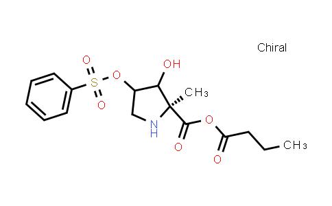 Butyric (2S)-3-hydroxy-2-methyl-4-((phenylsulfonyl)oxy)pyrrolidine-2-carboxylic anhydride