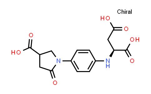 (2S)-2-((4-(4-Carboxy-2-oxopyrrolidin-1-yl)phenyl)amino)succinic acid
