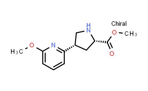 (2S,4S)-Methyl 4-(6-methoxypyridin-2-yl)pyrrolidine-2-carboxylate