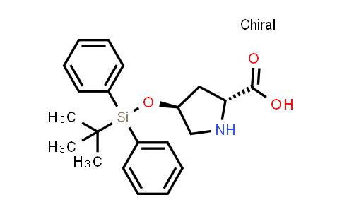 (2R,4S)-4-((tert-Butyldiphenylsilyl)oxy)pyrrolidine-2-carboxylic acid
