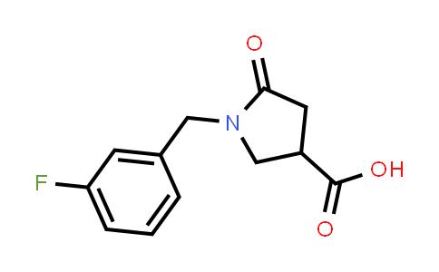 1-(3-Fluorobenzyl)-5-oxo-pyrrolidine-3-carboxylic acid