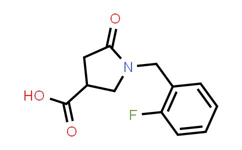 1-(2-Fluorobenzyl)-5-oxopyrrolidine-3-carboxylic acid