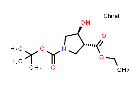 trans-1-tert-Butyl 3-ethyl 4-hydroxypyrrolidine-1,3-dicarboxylate