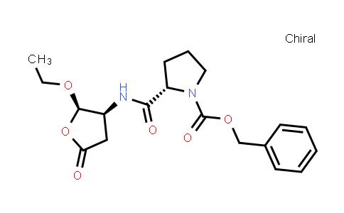 (S)-Benzyl 2-(((2R,3S)-2-ethoxy-5-oxotetrahydrofuran-3-yl)carbamoyl)pyrrolidine-1-carboxylate