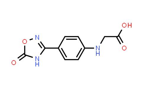2-((4-(5-Oxo-4,5-dihydro-1,2,4-oxadiazol-3-yl)phenyl)amino)acetic acid