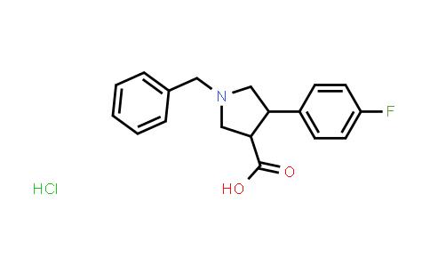 1-Benzyl-4-(4-fluorophenyl)pyrrolidine-3-carboxylic acid hydrochloride