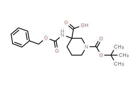 3-(((Benzyloxy)carbonyl)amino)-1-(tert-butoxycarbonyl)piperidine-3-carboxylic acid