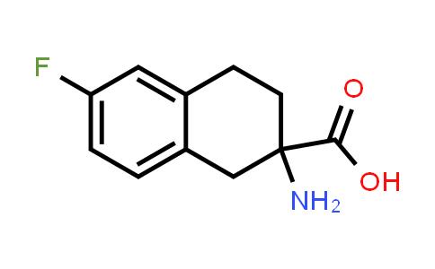2-Amino-6-fluoro-1,2,3,4-tetrahydronaphthalene-2-carboxylic acid
