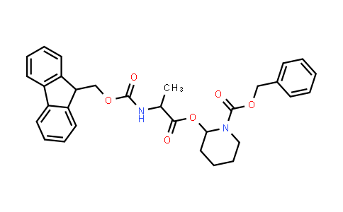 Benzyl 2-((2-((((9H-fluoren-9-yl)methoxy)carbonyl)amino)propanoyl)oxy)piperidine-1-carboxylate