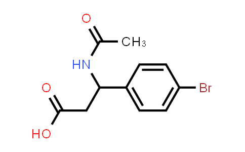 3-Acetamido-3-(4-bromophenyl)propanoic acid