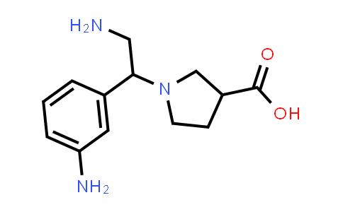 1-(2-Amino-1-(3-aminophenyl)ethyl)pyrrolidine-3-carboxylic acid