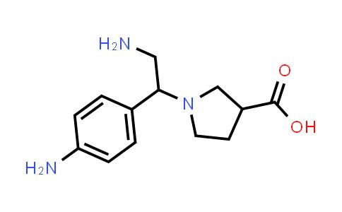 1-(2-Amino-1-(4-aminophenyl)ethyl)pyrrolidine-3-carboxylic acid