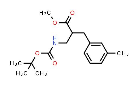 Methyl 3-((tert-butoxycarbonyl)amino)-2-(3-methylbenzyl)propanoate