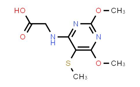 2-((2,6-Dimethoxy-5-(methylthio)pyrimidin-4-yl)amino)acetic acid