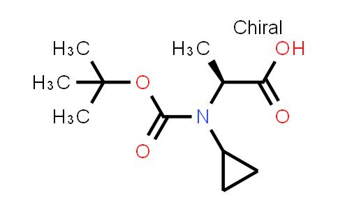 (S)-2-((tert-Butoxycarbonyl)(cyclopropyl)amino)propanoic acid