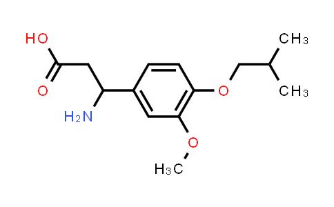3-Amino-3-(4-isobutoxy-3-methoxyphenyl)propanoic acid