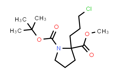 1-tert-Butyl 2-methyl 2-(3-chloropropyl)pyrrolidine-1,2-dicarboxylate
