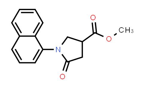 Methyl 1-(naphthalen-1-yl)-5-oxopyrrolidine-3-carboxylate